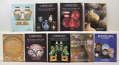 Lot of 9 Christie's Oriental Ceramics and Works of Art Auction Catalogs 2