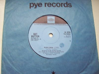 Hot Butter, Popcorn / At The Movies. Original 1973 Pye Single. Quirky Hit