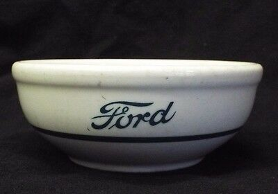 Old Vintage FORD CAFETERIA SHENANGO Pottery China  BOWL Car Advertising 5""