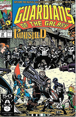 Guardians of the Galaxy Comic Book #18, Marvel 1991 VERY FINE