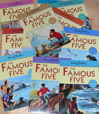 Enid Blyton THE FAMOUS FIVE Book Cover Postcards new