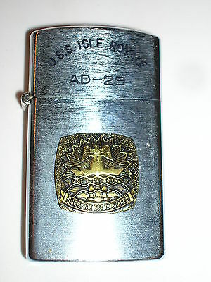 Ad-29 Uss Isle Royale Usn Ship Penguin Lighter Excellent