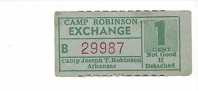 USA WW 2 POW Camp Robinson, Arkansas 1 cent B29987 UNLISTED IN CAMPBELL RRR