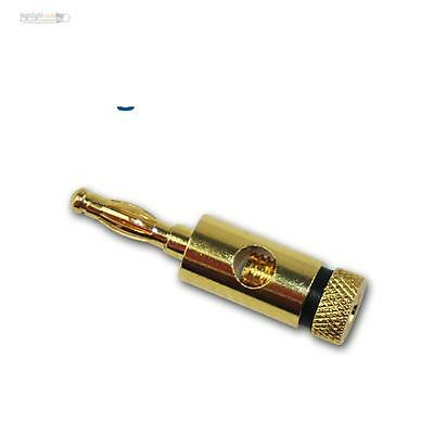 Banana plugs/Laboratory plug ø 4mm,gold plated black Stacking connector Multilam