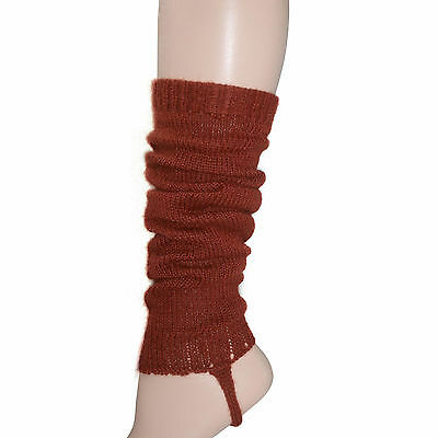 100% Alpaca Wool Leg Warmers for Girls ~ Terracotta Legwarmers Accessories