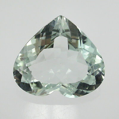 LOFTY NATURAL UNHEATED BLUE TOPAZ HEART 17x19 MM 18.80 CARATS FROM  AFRICA