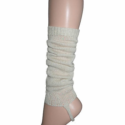 100% Alpaca Wool Leg Warmers for Girls ~ Off White Legwarmers Accessories