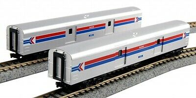 Kato 1063512 N Scale Smooth Baggage Car Amtrak C (2) #1075 #1076