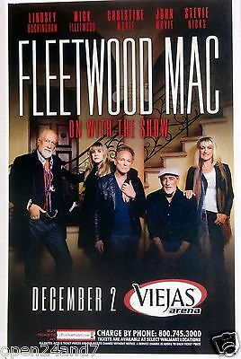 "FLEETWOOD MAC 2014 ""ON WITH THE SHOW TOUR"" SAN DIEGO CONCERT POSTER-Stevie Nicks"