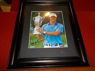 Rory McIlory Signed and framed Photo Upper Deck Authenticated