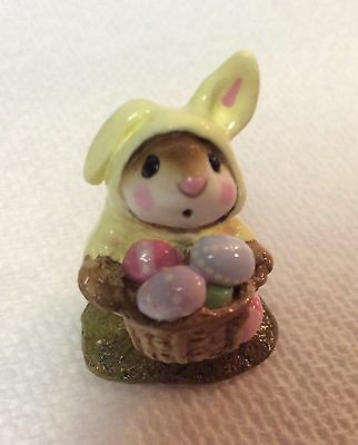 Wee Forest Folk Retired Yellow Easter Bunny Mouse
