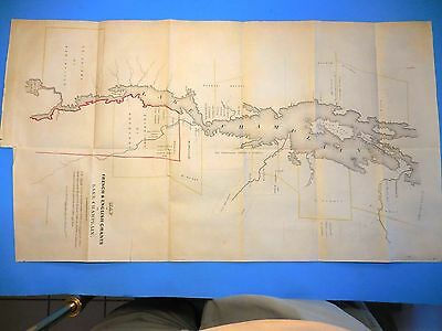 MAP LAKE CHAMPLAIN c.1696 ANTIQUE, FRENCH & ENGLISH GRANTS,  by R.H. PEASE