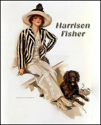 HARRISON FISHER ART DVD-100+ Reproductions Fisher Girl PLUS FREE KINDLE eBOOK