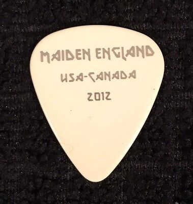 Iron Maiden - Adrian Smith - Guitar Pick   - 2012 Made In England Tour - Usa/can