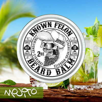 Known Felon 2oz Mojito Beard Balm All Natural