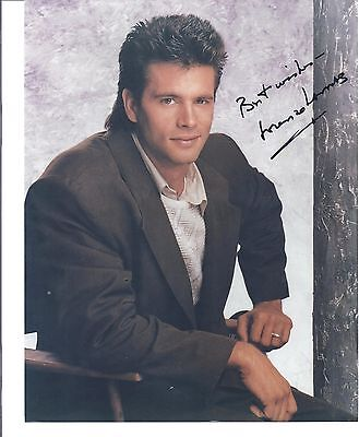"LORENZO LAMAS -""Falcon Crest + The Bold & The Beautiful""-Actor- Signed 8x10 pic"