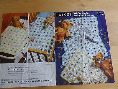 Vintage Pattern 1970's, Crochet Pram and Cot Covers