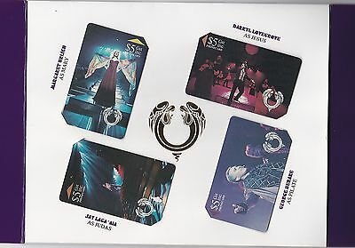 Nz 1994 Event Masters Jesus Christ Superstar Phonecard Set Of 4 $5 Phonecards