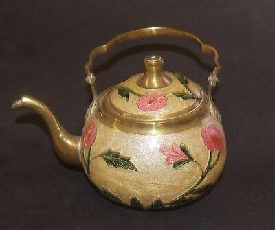 Brass And Enamelled Cloisonne Teapot