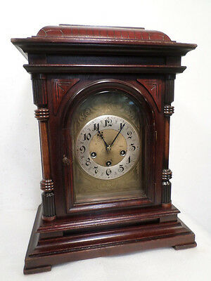 Early Model Junghans Victorian Westminister Bracket Clock--Quarter Hour Chimes
