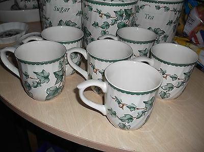 6  Bhs Country Vine  Coffee Mugs In Vgc.