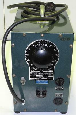 SOLA Fisher Constant Voltage Transformer Variac 0-130 and 115 volt outputs