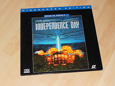 Laserdisc PAL: Independance Day inkl. Making Of, 2 Discs, THX, Widescreen