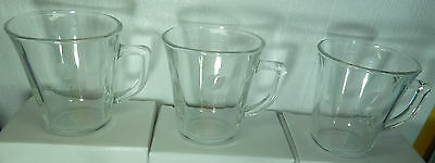 NESCAFE COLLECTIBLE 3 GLASS CUP For COFFEE  LIMITED EDITION ,NEW DESIGN,,NEW