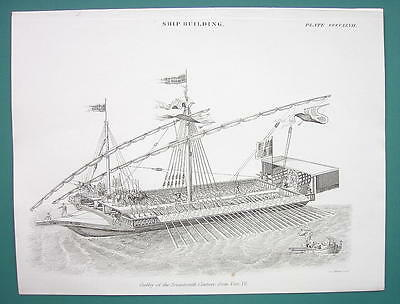 SHIPS 17th Century Galley - 1840 Fine Quality Print
