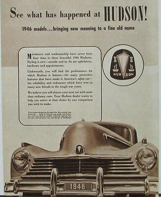 1946 Hudson Super and Commodore Series Sixes & Eights Sales Folder Original