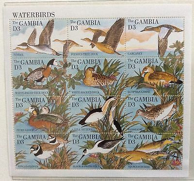 Gambia mid 1990's Unmounted Mint. Birds. Complete sheet.