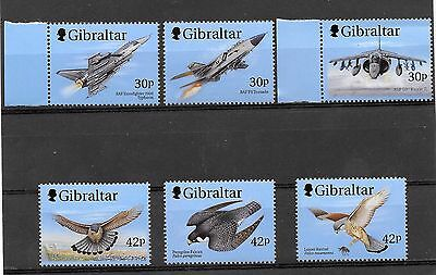"GIBRALTER  1999  COMPLETE SET  6  MNH ""WINGS OF PREY  1st SERIES"