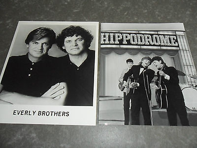 THE EVERLY BROTHERS - 2 x Original Promotional / Press / Advertising Photographs