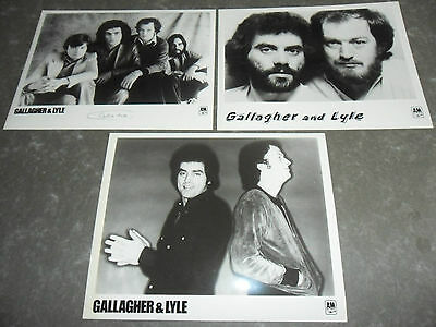 GALLAGHER & LYLE - 3 x Original Promotional / Press / Advertising Photographs
