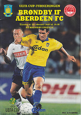 Brondby IF v Aberdeen 29 Oct 1996 UEFA Cup