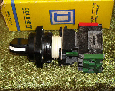Square D  2 Position Selector SWITCH, 9001 D1G2SM05, with DA11 BLOCK NEW IN BOX!
