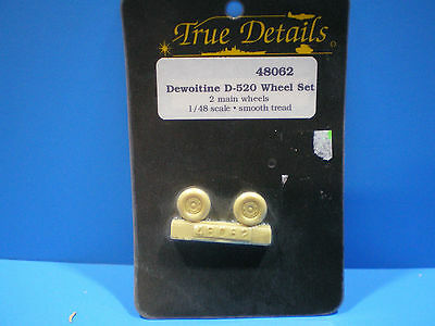 True Details Dewoitine D-520 Wheel set 1:48 scale #48062