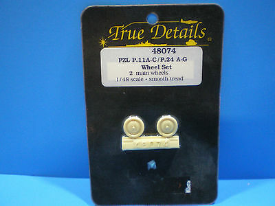 True Details PZL P.11A-C / P.24 A-G Wheel set 1:48 scale #48074