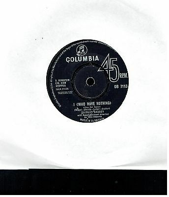 Shirley Bassey I Who Have Nothing 45 1963