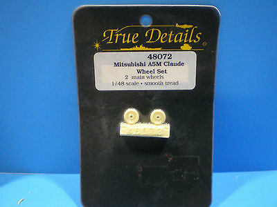 True Details Mitsubishi A5M Claude Wheel set 1:48 scale #48072