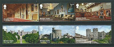 Great Britain 2017 Windsor Castle Set In Two Strips Unmounted Mint,mnh
