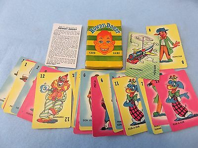 1950's mint in box out of original case Howdy Doody card game by Russell Mfg