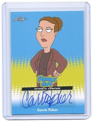 2011 Family Guy Carrie Fisher Princess Leia autograph auto card #CF1 Star Wars 3