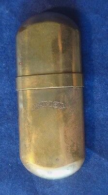 "ANTIQUE VINTAGE ""CAMEL"" BRASS, No.5 CIGARETTE LIGHTER~NICE CONDITION!"