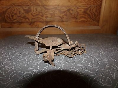 Vintage Victor Omega Jump Metal Animal Trap Patent Date 1907