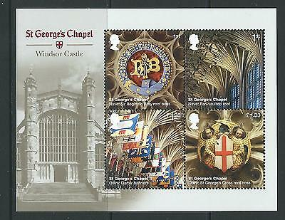 Great Britain 2017 Windsor Castle Miniature Sheet No Barcode Unmounted Mint