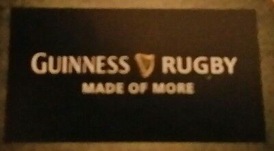 * Guinness Rugby Flag Banner Advertising Home Bar Man Cave New
