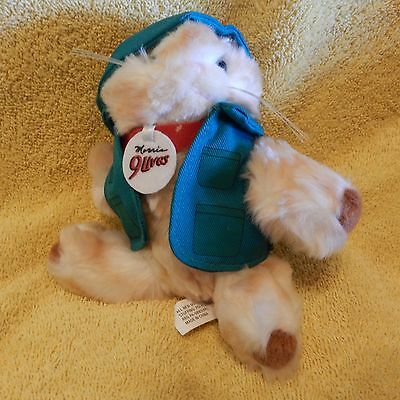 """Collectible Stuffed (small) Morris The Cat from 9-Lives Cat Food, Fisherman, 6"""""""