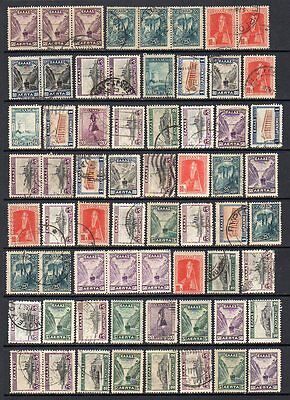 "GREECE 1927-35 - ""Landscapes"" - Collection 128 stamps"