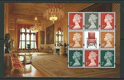 Great Britain 2017 Definitive Pane Ex Windsor Castle Prestge Bk  Unmounted Mint